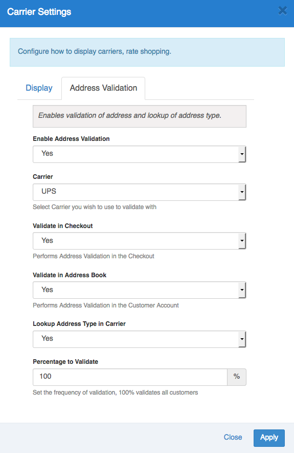 SHQ_Address_Validation_Settings