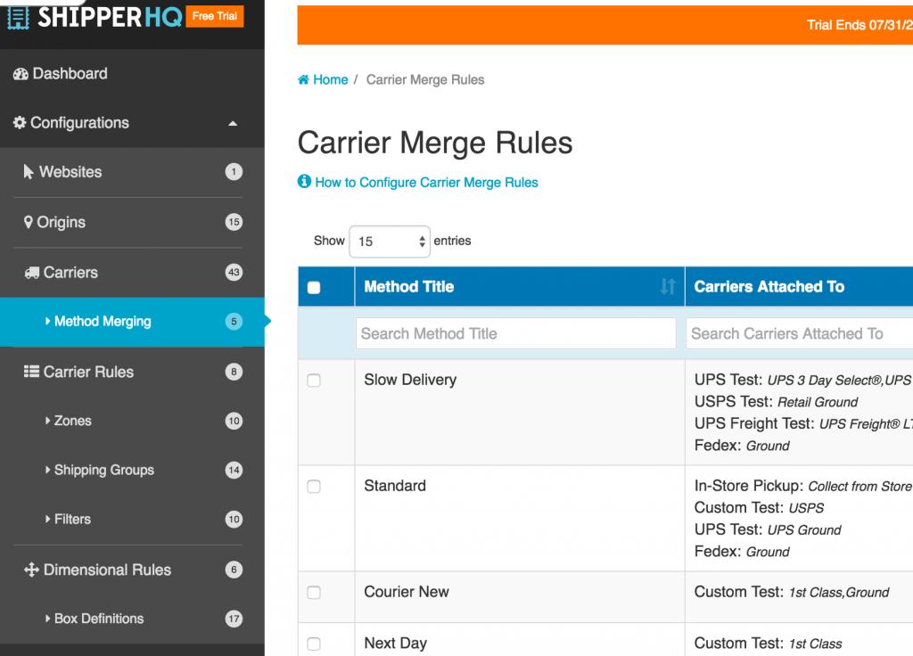 Carrier Merging