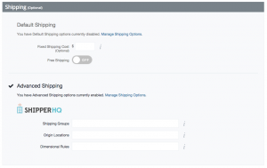 Bigcommerce Product Shipping Attributes