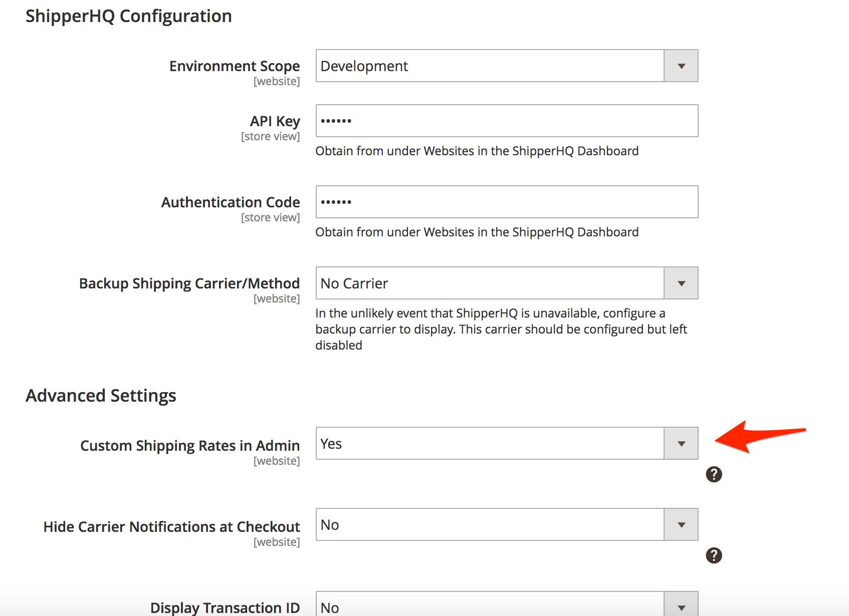 How to Set Up an Admin Shipping Carrier - ShipperHQ Docs