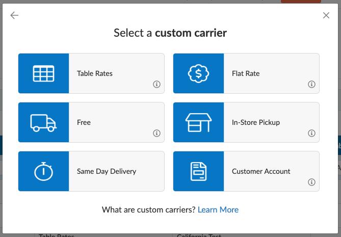 Add a Custom Rate Carrier in ShipperHQ