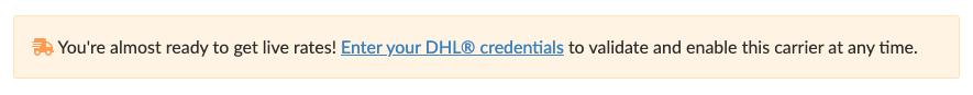Carrier credentials reminder