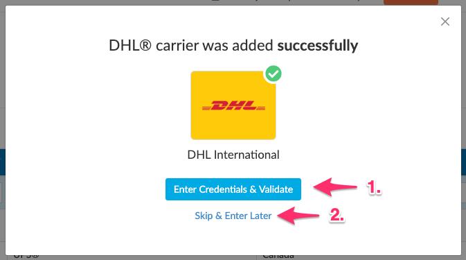 Successfully add a carrier in ShipperHQ