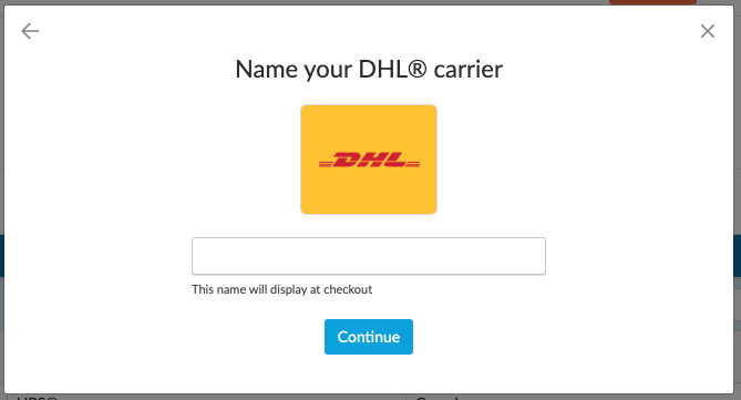 Name your Carrier in ShipperHQ