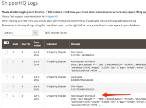 ShipperHQ Log Viewer